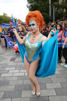 Belfast Pride 2016: Thousands of people take part in the annual Pride event in Belfast city centre celebrating Northern Ireland's LGBT community. Photo by Kelvin Boyes / Press Eye