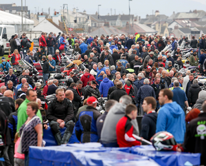 Great buzz: The 1,500 inhabitants of the North West 200 paddock have taken up residence for another year of racing action