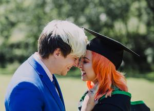 Ulster University summer graduations 2018 at the Coleraine Campus   Graduating from Ulster University today is Jodie McKeegan, with a degree in Psychology with partner Christopher Hynds. Picture John Murphy Aurora PA