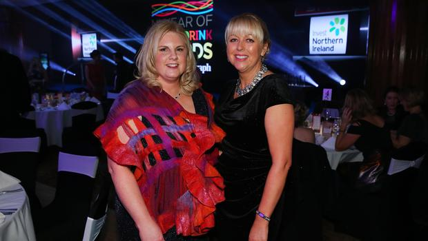 Press Eye - Belfast - Northern Ireland - 2nd February 2017 -    NI Year of Food & Drink Awards at the Culloden Hotel.  Sharon Machala and Jackie Reid pictured at the NI Year of Food & Drink Awards at the Culloden Hotel.  Photo by Kelvin Boyes / Press Eye.