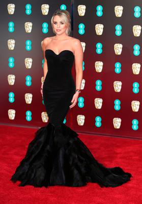 Lydia Bright attending the EE British Academy Film Awards held at the Royal Albert Hall, Kensington Gore, Kensington, London.  PRESS ASSOCIATION Photo. Picture date: Sunday February 18, 2018. See PA Story SHOWBIZ Bafta. Photo credit should read: Yui Mok/PA Wire.