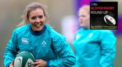 Ireland international Claire McLaughlinwas this week's guest on the Ulster Rugby Round Up podcast.