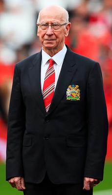 Big day: Old Trafford's South Stand renamed the Sir Bobby Charlton Stand