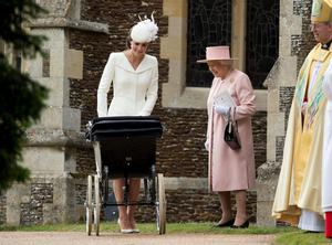 File photo dated 05/07/15 of the Duchess of Cambridge and Queen Elizabeth II with Princess Charlotte during her christening, as the Queen may be the head of state, but she is also a mother of four, grandmother to eight grandchildren and great-grandmother to five. PRESS ASSOCIATION Photo. Issue date: Sunday April 3, 2016. While she is familiar around the world to millions as a sovereign, it is the Windsors who know the real Elizabeth II, sharing precious family time behind closed doors. See PA story ROYAL Birthday Family. Photo credit should read: Matt Dunham/PA Wire
