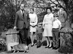 File photo dated 22/04/68 of (left to right) The Duke of Edinburgh, Princess Anne, Prince Edward, Queen Elizabeth II, Prince Andrew and Prince Charles in the grounds of Frogmore House, Windsor, as the Queen may be the head of state, but she is also a mother of four, grandmother to eight grandchildren and great-grandmother to five. PRESS ASSOCIATION Photo. Issue date: Sunday April 3, 2016. While she is familiar around the world to millions as a sovereign, it is the Windsors who know the real Elizabeth II, sharing precious family time behind closed doors. See PA story ROYAL Birthday Family. Photo credit should read: PA Wire