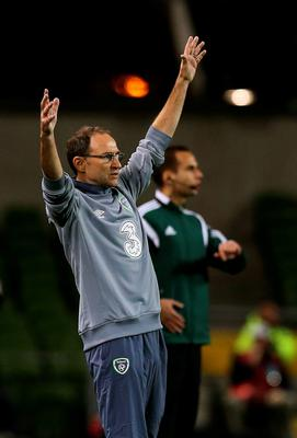 Republic of Ireland manager Martin O'Neill during the UEFA European Championship Qualifying match at the Aviva Stadium, Dublin. PRESS ASSOCIATION Photo. Picture date: Monday September 7, 2015. See PA story SOCCER Republic. Photo credit should read: Brian Lawless/PA Wire