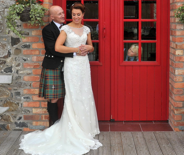 Nichola and Geoff Swann from Jordanstown are celebrating married life following their perfect vintage style wedding at Riverdale Gilbert's Dam in Aghagallon.