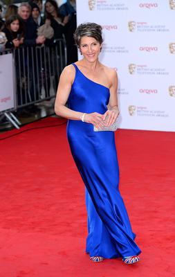 Tamsin Greig arriving for the 2013 Arqiva British Academy Television Awards at the Royal Festival Hall, London. PRESS ASSOCIATION Photo. Picture date: Sunday May 12, 2013. See PA story SHOWBIZ Bafta. Photo credit should read: Dominic Lipinski/PA Wire