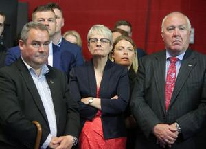 Press Eye Belfast - Northern Ireland 8th June 2017  Westminster General Election 2017  SDLP candidate for South Down Margaret Ritchie pictured after loosing her seat at the election count at the Eikon Exhibition Centre Sprucefield for Lagan Valley, Newry & Armagh, South Down and Upper Bann.  Picture by Jonathan Porter/PressEye.com