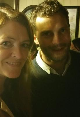 Claire Curran with Jamie at the Harbour Bar in Downings