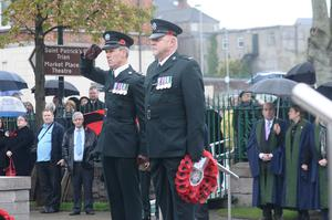 Chief Inspector Ian Campbell and Sergeant Alan Beattie of PSNI at The Mall in Armagh