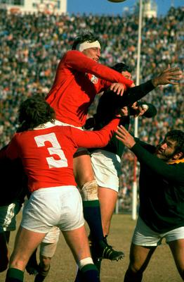 Rough stuff: Willie John McBride in the heat of battle for the Lions in 1974