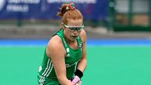 Zoe Wilson in action for Ireland