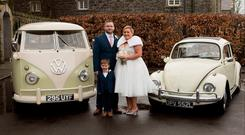 Happy couple: Hollie and Matthew Jones with their son Ethan
