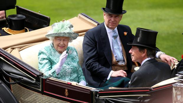 The Duke of York with his mother, the Queen (Nigel French/PA)