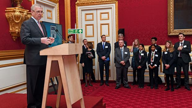 The Duke of York at the iDEA bronze awards at St James's Palace in 2017 (Victoria Jones/PA)
