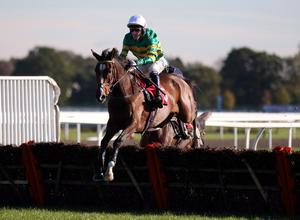 tONY McCoy rides Chalk it Down in the Weatherbys Bank Novices' Hurdle Race at Kempton Park Racecourse, Middlesex. PRESS ASSOCIATION Photo. Picture date: Monday November 4, 2013. See PA Story RACING Kempton. Photo credit should read: Steve Parsons/PA Wire.
