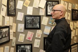 21/10/18 PACEMAKER PRESS An exhibition was opened to commerate the victims of the Shankill Bombing in the Methodist Church on the shankill Road. Billy Hutchinson looks at the gallery. PICTURE MATT BOHILL PACEMAKER PRESS
