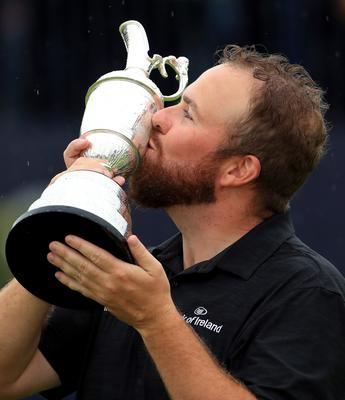 Shane Lowry after winning the 148th Open Championship at Royal Portrush Golf Club last year