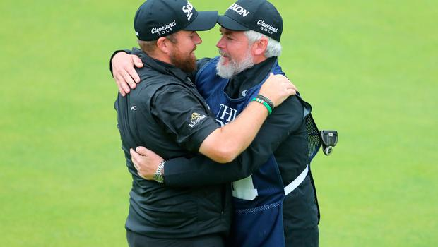 Republic Of Ireland's Shane Lowry celebrates winning the Claret Jug during day four of The Open Championship 2019 at Royal Portrush Golf Club. PRESS ASSOCIATION Photo. Picture date: Sunday July 21, 2019. See PA story GOLF Open. Photo credit should read: Richard Sellers/PA Wire. RESTRICTIONS: Editorial use only. No commercial use. Still image use only. The Open Championship logo and clear link to The Open website (TheOpen.com) to be included on website publishing.