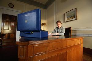 New First Minister Arlene Foster at Parliament Buildings, Stormont this afternoon. Picture by Kelvin Boyes / Press Eye.