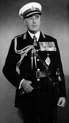 Lord Mountbatten in navy uniform 1965