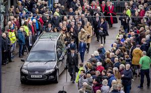 The funeral of Harry Gregg takes place at St Patrick's Church in Coleraine on February 21st 2020 (Photo by Kevin Scott for Belfast Telegraph)