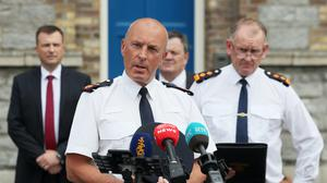 Deputy Commissioner John Twomey during a press conference at Garda HQ in Dublin (Brian Lawless/PA)
