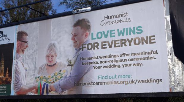 One of new posters erected in the city