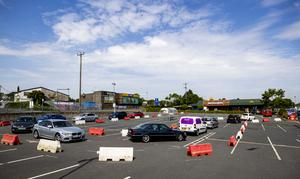 McDonald's drive-thru at Bloomfield Shopping Mall in Bangor, Northern Ireland reopened at 11am with queues of cars of hungry people wishing t0 have their first MdDonald's since the lockdown.. PA Photo. Picture date: Tuesday June 02, 2020. See PA story HEALTH Coronavirus Ulster. Photo credit should read: Liam McBurney/PA Wire
