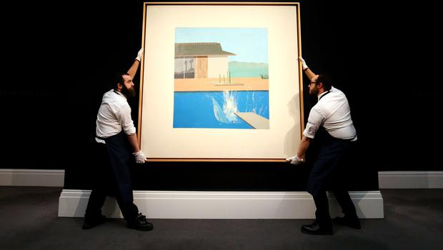 David Hockney's The Splash has sold for £23.1 million at auction (Jonathan Brady/PA)