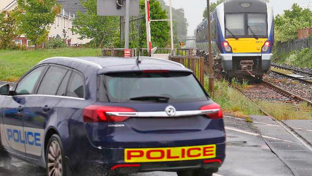 The scene of the fatal accident where a 19-year-old was struck by a train