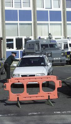 Castlereagh RUC station in East Belfast - Intruders broke into the Special Branch office at the police base on St Patrick's Day 2002.