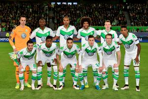 WOLFSBURG, GERMANY - APRIL 06:  VfL Wolfsburg players line up for the team photos prior to the UEFA Champions League Quarter Final First Leg match between VfL Wolfsburg and Real Madrid at Volkswagen Arena on April 6, 2016 in Wolfsburg, Germany.  (Photo by Stuart Franklin/Bongarts/Getty Images)