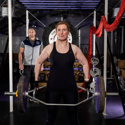 School teacher Kirsty Chapman who has lost over four stone in weight with the aid of personal trainer Rodger Greenaway at The Fitness Shed, Clonmore. (Liam McBurney/RAZORPIX)