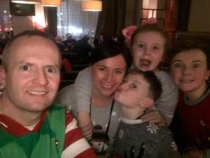 Damian with wife Martina and his three children,
