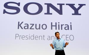 Japan's electronics giant Sony president Kazuo Hirai talks during a presentation ahead of the opening of the 55th IFA (Internationale Funkausstellung), on September 2, 2015 in Berlin. IFA, one of the world's biggest consumer electronics shows, opens for the media before the public is invited from September 4 to 9. AFP PHOTO / JOHN MACDOUGALLJOHN MACDOUGALL/AFP/Getty Images