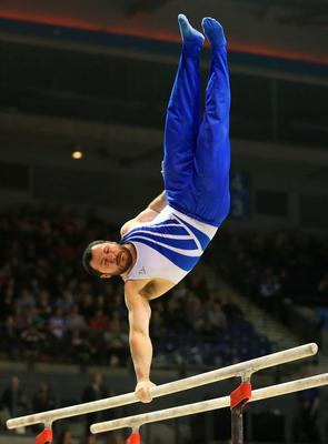 Ashley Watson on the parallel bars during the Artistic Gymnastics British Championships 2016 at the Echo Arena, Liverpool. PRESS ASSOCIATION Photo. Picture date: Sunday April 10, 2016. See PA story GYMNASTICS British. Photo credit should read: Nigel French/PA Wire. RESTRICTIONS: EDITORIAL USE ONLY, NO COMMERCIAL USE WITHOUT PRIOR PERMISSION, PLEASE CONTACT PA IMAGES FOR FURTHER INFO: Tel: +44 (0) 115 8447447.
