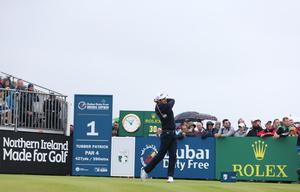 Press Eye - Belfast - Northern Ireland - 9th July 2017   Day four of the Dubai Duty Free Irish Open Hosted by the Rory Foundation at Portstewart Golf Club, Co.Derry / Co. Londonderry, Northern Ireland.  Julien Quesne  Picture by Matt Mackey / presseye.com