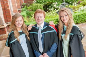 Catherine and Helen are graduating with BSc (intercalated) Medical Science and Jonathan with his medical degree.