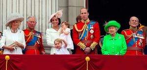 File photo dated 11/06/16 of the Duke and Duchess of Cambridge with their children Princess Charlotte and Prince George, Queen Elizabeth II, the Duke of Edinburgh, the Duchess of Cornwall and the Prince of Wales on the balcony of Buckingham Palace, London, after they attended the Trooping the Colour ceremony. The Duke and Duchess of Cambridge will celebrate their daughter Princess Charlotte's second birthday on Tuesday. PRESS ASSOCIATION Photo. Issue date: Sunday April 30, 2017. William and Kate are likely to stage a birthday party for the youngster, who was born on May 2, 2015, at their Norfolk home Anmer Hall. See PA story ROYAL Charlotte. Photo credit should read: Steve Parsons/PA Wire