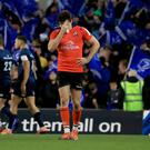 Tough time: A dejected Jacob Stockdale at the Aviva Stadium