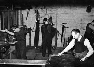 Saw repair shop, McMasters, Church Lane. 19/11/1945