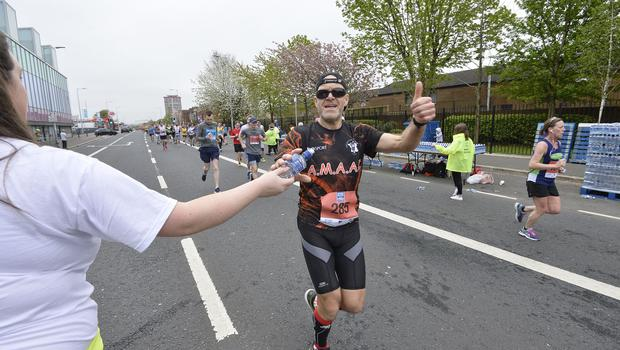 7th May 2018 37th Deep RiverRock Belfast City Marathon  Gerald Calou  pictured at the marathon  Mandatory Credit ©Presseye/Stephen Hamilton