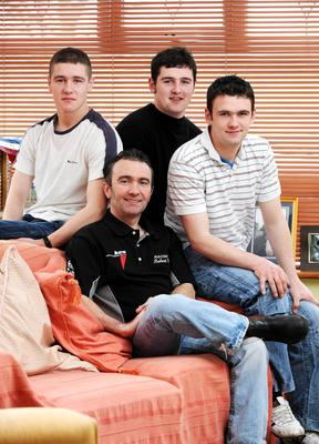 PACEMAKER, BELFAST, 2008:  This photograph of Robert Dunlop and his three sons, Daniel, Michael and William, will always be very special to me. Robert wanted it taken as Daniel was leaving that day for Afghanistan and he said he didnt have a recent picture of himself with his boys.  It is heartbreaking that both Robert and William are now no longer with us, lost to the sport to which they had dedicated their lives. PICTURE BY STEPHEN DAVISON