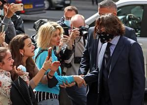 Johnny Depp arrives at the High Court in London (Yui Mok/PA)