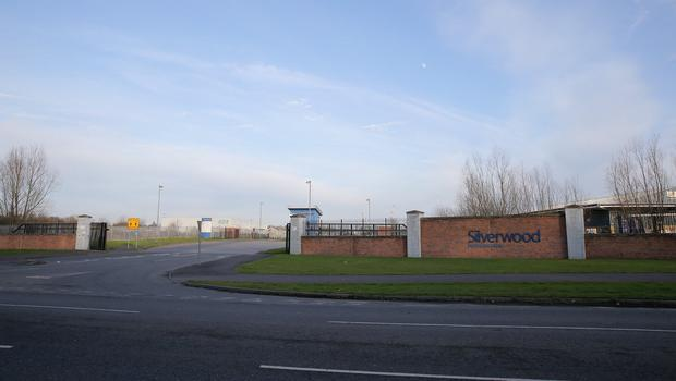 Silverwood Business Park, where an explosive device was found. Picture: Philip Magowan / PressEye
