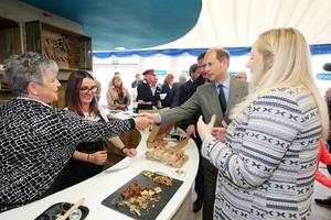 Prince Edward, Earl of Wessex is pictured meeting exhibitors at the Ulster Bank stand during a visit to Balmoral Show this afternoon. Kelvin Boyes / Press Eye.