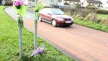 The scene of the accident in which eight year-old Adam Gilmour was killed
