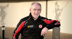 Cautious: Tyrone manager Mickey Harte knows how to look after his players